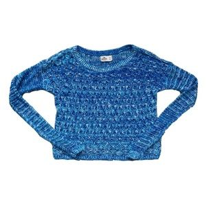 Hollister | Blue & White Knit Long Sleeve Sweater